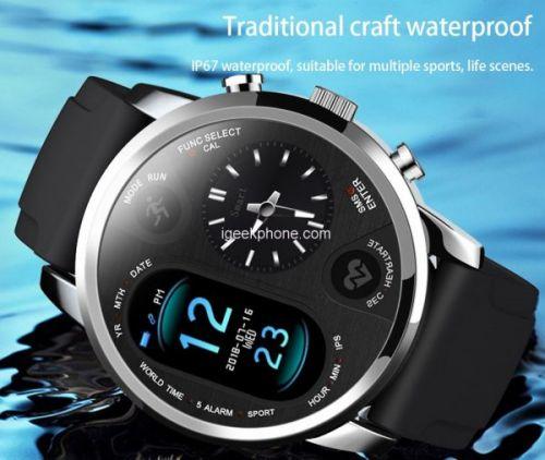 Bakeey T3 - умные часы с двумя мониторами всего за 26,99