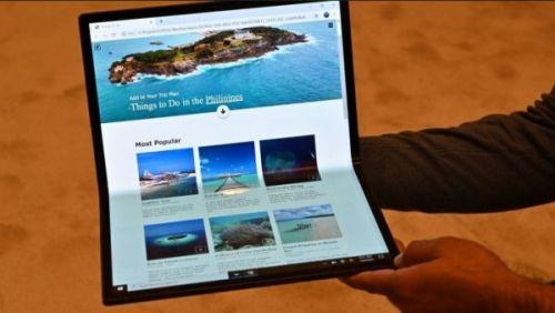 Intel представил гигантский 17-дюймовый складной планшет, превращающийся в ноутбук
