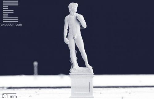 """Micro-angelo? Этот """"Дэвид"""" Микеланджело, напечатанный в 3D, всего лишь миллиметрового роста..."""