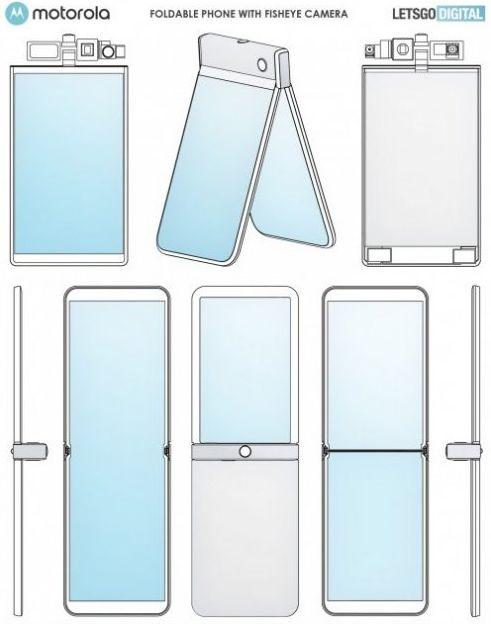 Визуализация возможного дизайна Motorola Razr 2020