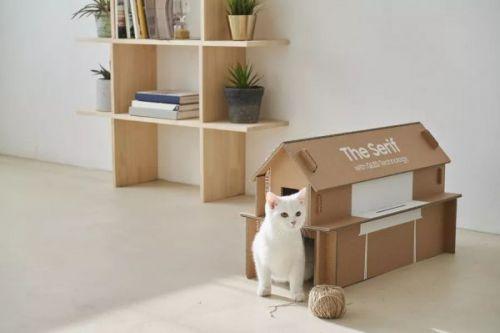 Новая упаковка для телевизоров Samsung может быть преобразована в дом для кошек