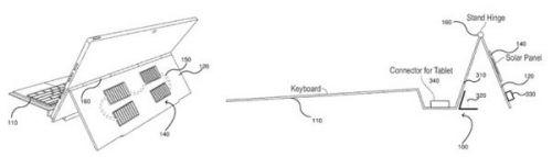 Новый патент Microsoft: солнечные панели на задней поверхности подставки