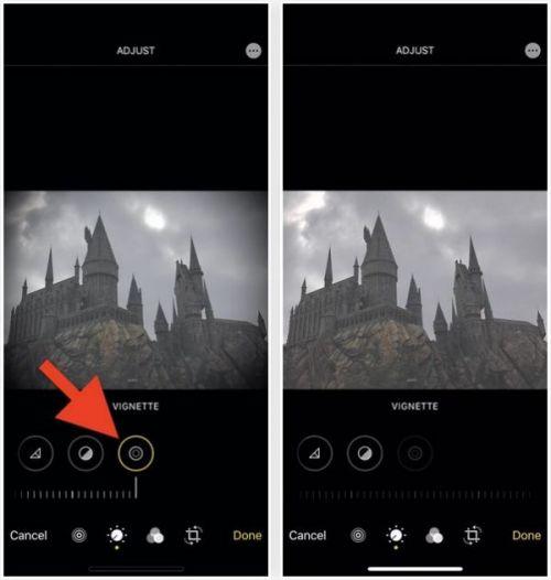 Переключите настройки в редакторе фотографий вашего iPhone, чтобы сравнить эффекты до и после