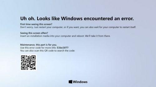 «Синий экран смерти» больше не существует! Дизайнеры по-новому смотрят на синий экран смерти Windows 10