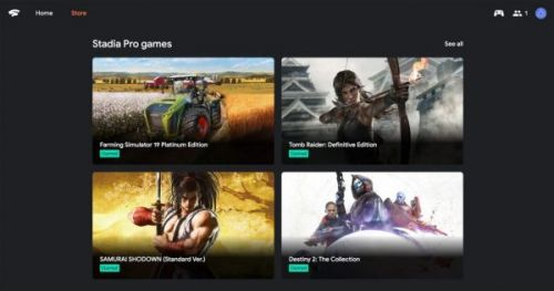 Stadia Store для просмотра, покупки игр теперь доступны онлайн и с ПК