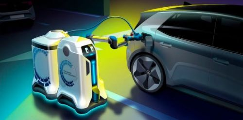 Volkswagen разрабатывает робота, который может найти ваш электромобиль на стоянке и зарядить его
