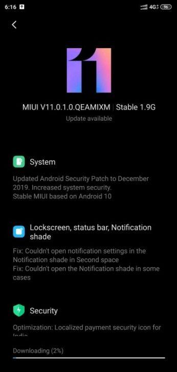Xiaomi Mi 8 получает стабильную Android 10
