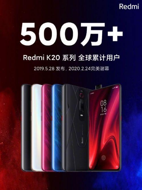 Xiaomi продала более 5 миллионов смартфонов серии Redmi K20 по всему миру