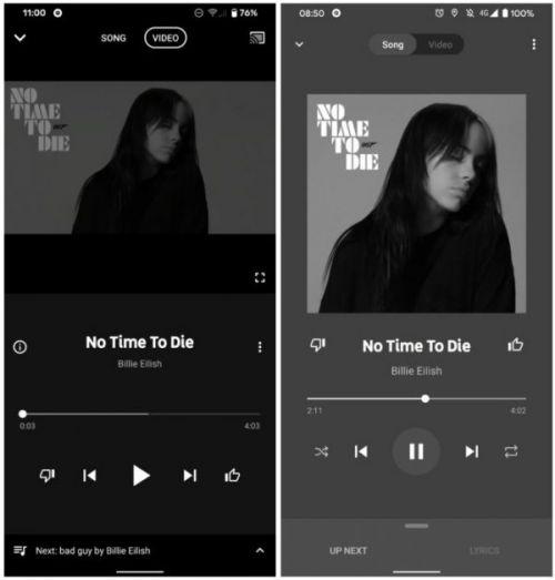 YouTube Music тестирует новый пользовательский интерфейс Now Playing с доступом к текстам