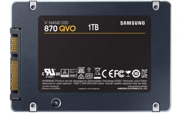 Samsung анонсирует твердотельные накопители QVO серии 870