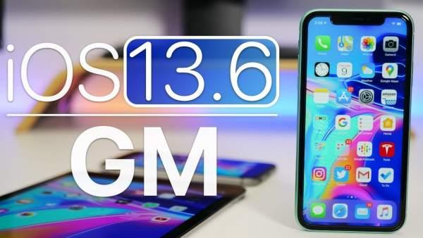 Вышла iOS 13.6 GM для разработчиков