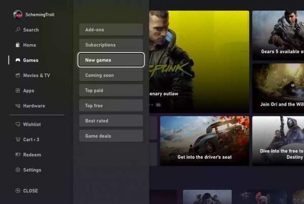 Microsoft анонсирует переработанный, гораздо более быстрый магазин Xbox