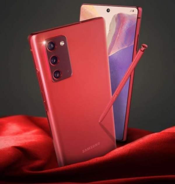 Samsung Galaxy Note 20 также появится в новых цветах - красном и синем