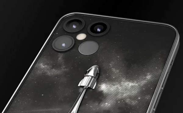 iPhone 12 Pro стилизованный под SpaceX