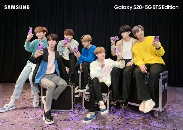 Purple Galaxy S20 + BTS Edition достиг еще одной европейской страны