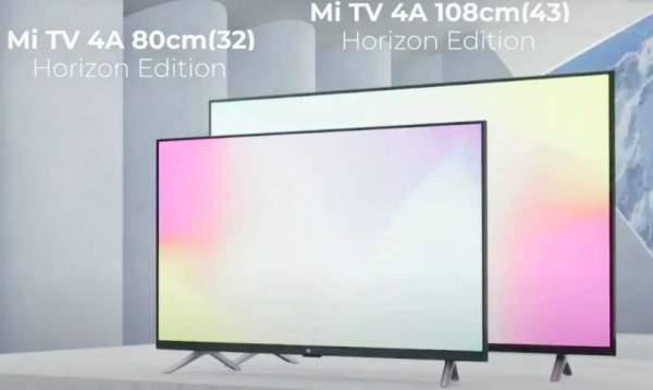 В Индии запущены 43- и 32-дюймовые телевизоры Mi TV 4A Horizon Edition