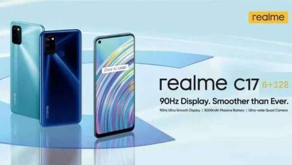 Realme C17 с дисплеем 90 Гц будет запущен 21 сентября