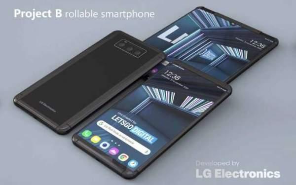 Получен патент на съемный смартфон LG Rollable