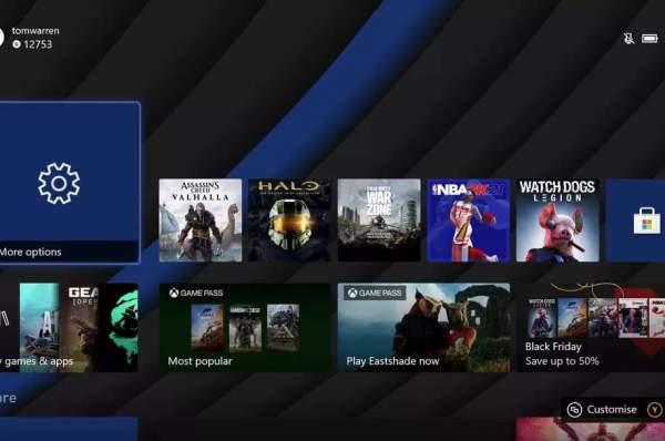 Выпущено первое обновление Xbox Series X с более динамичным фоном и изменениями пользовательского интерфейса