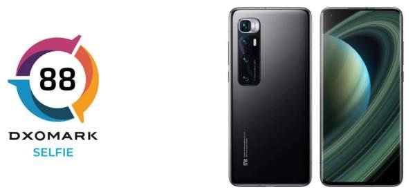 Камера Mi 10 Ultra занимает 22-е место в DXOMARK Selfie, набрав всего 88 очков