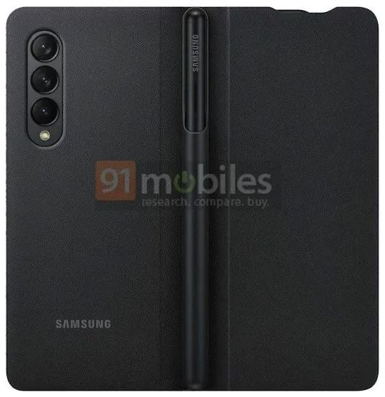Официальный рендер корпуса Samsung Galaxy Z Fold 3 демонстрирует поддержку S Pen